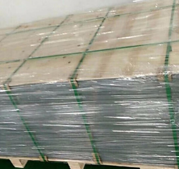 PET sheet with green PE Film covering